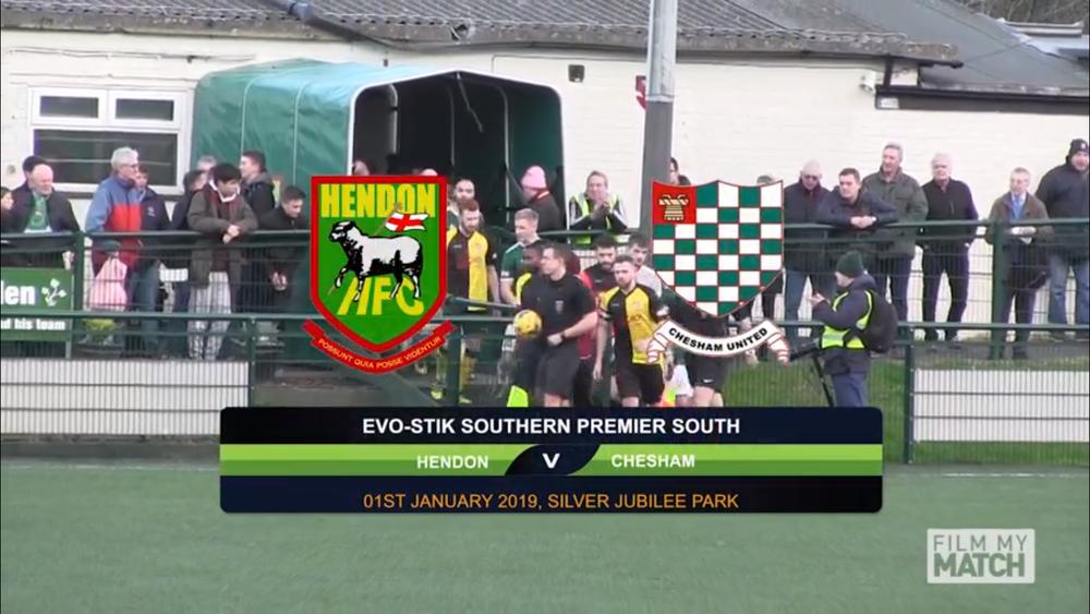 Hendon's New Year's game vs Chesham