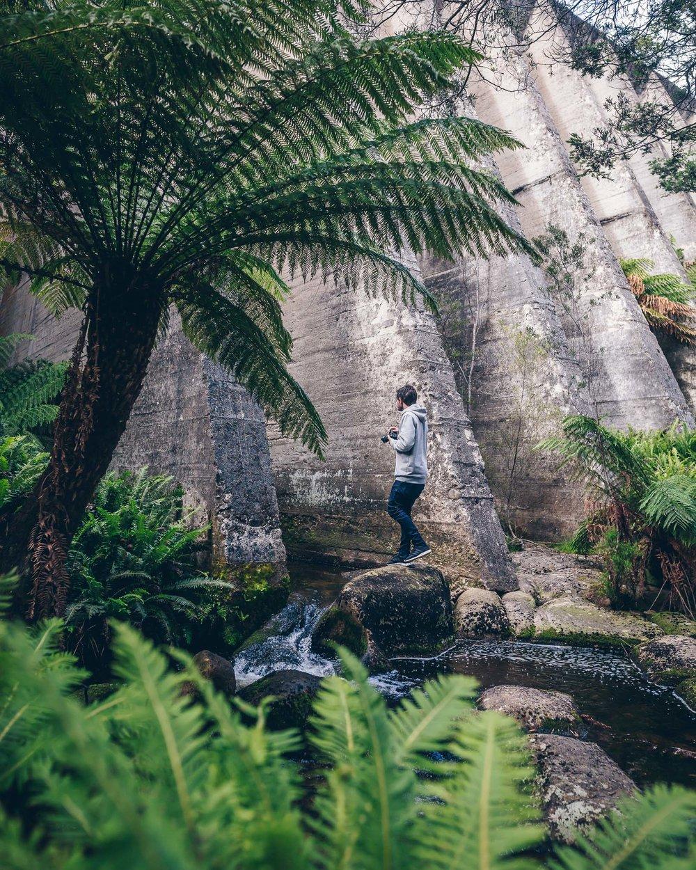@nickinthewild exploring the dam wall