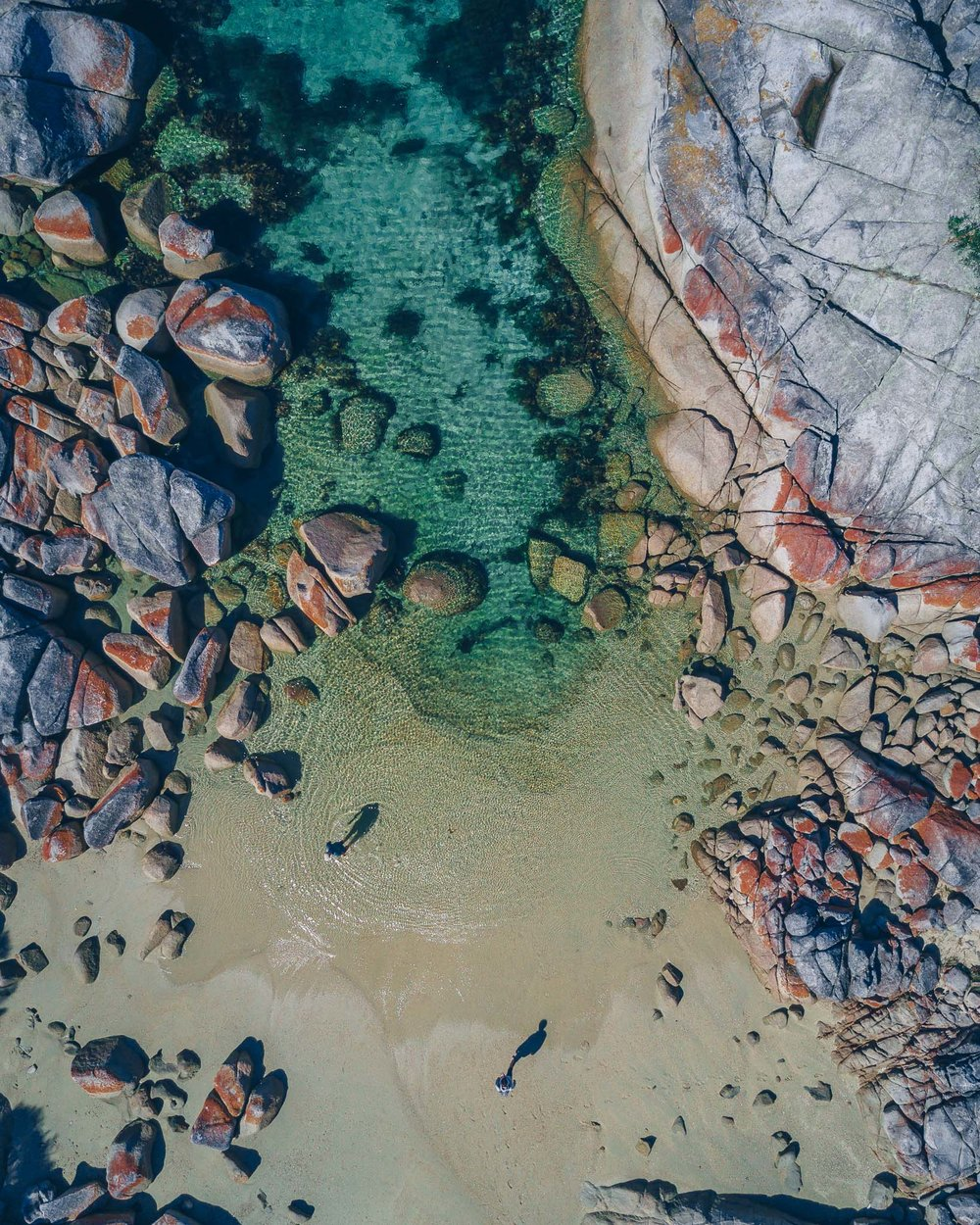 The Bay of Fires from above