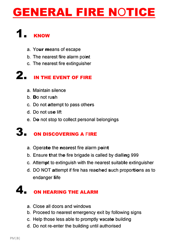 GENERAL FIRE NOTICE