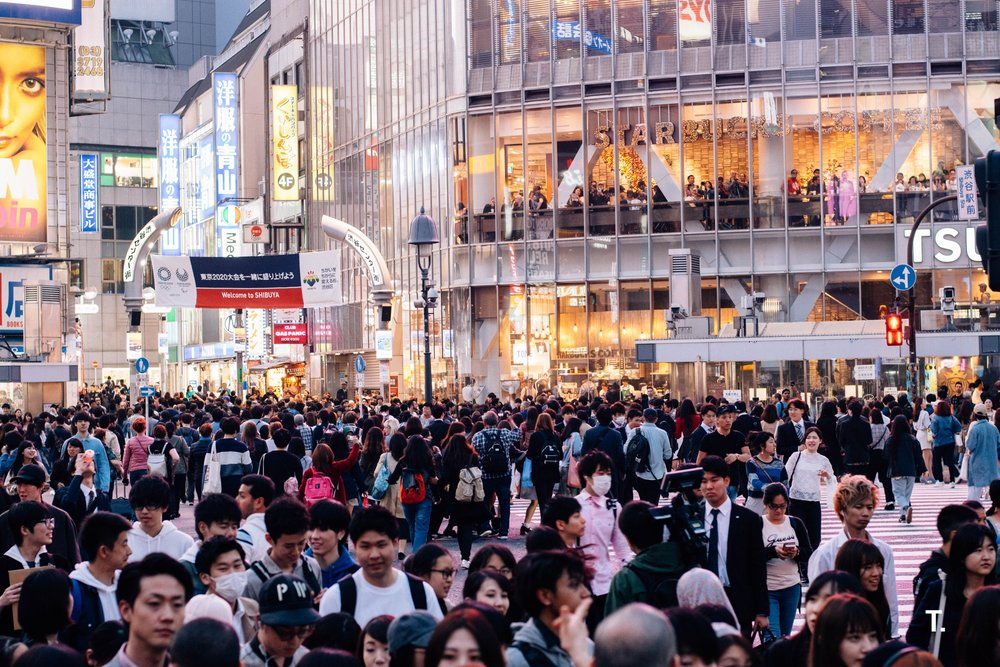 Shibuya Station Crossing. We were staying at hotel close to the station and was great having to experience this everyday while staying in Shibuya. Approximately 250,000 people cross here a day!