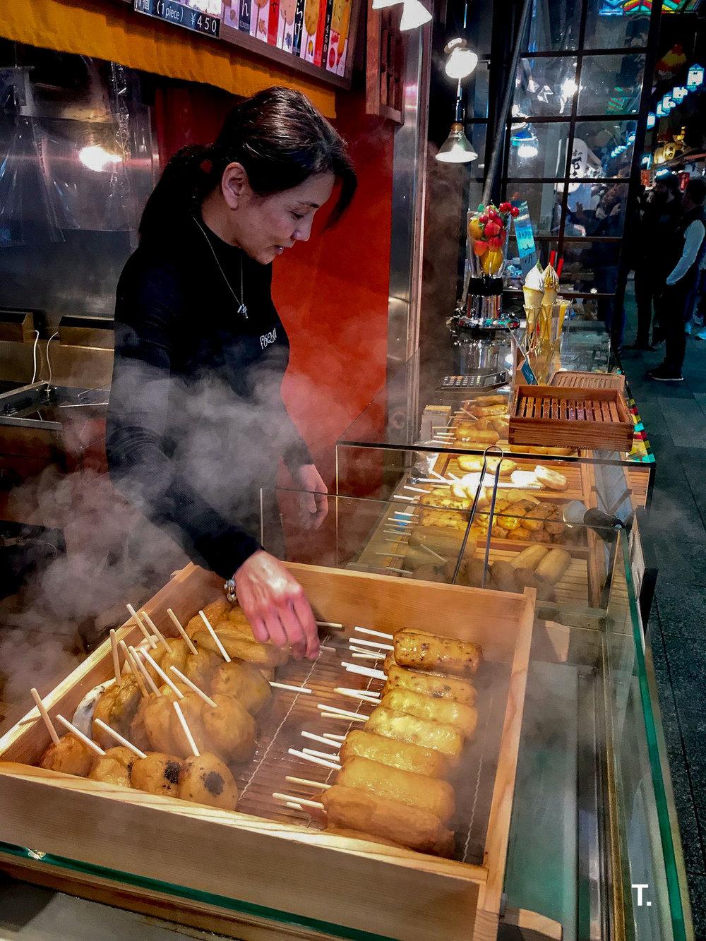 Best fish cakes at Nishiki Market. I still dream of these fish cakes.