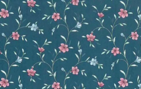 Laura Ashley wallpaper.