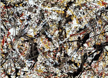 Artwork by Jackson Pollock.