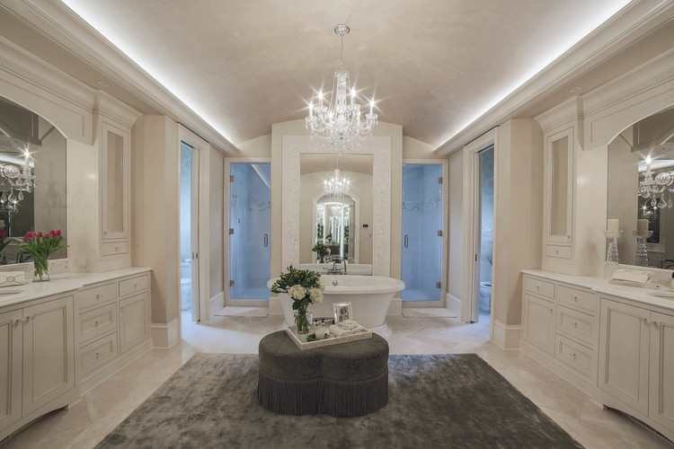 The Floors Are White Marble And Is Brought Up To Wainscot Height In Water Closet With A Heavy Chair Rail Matching