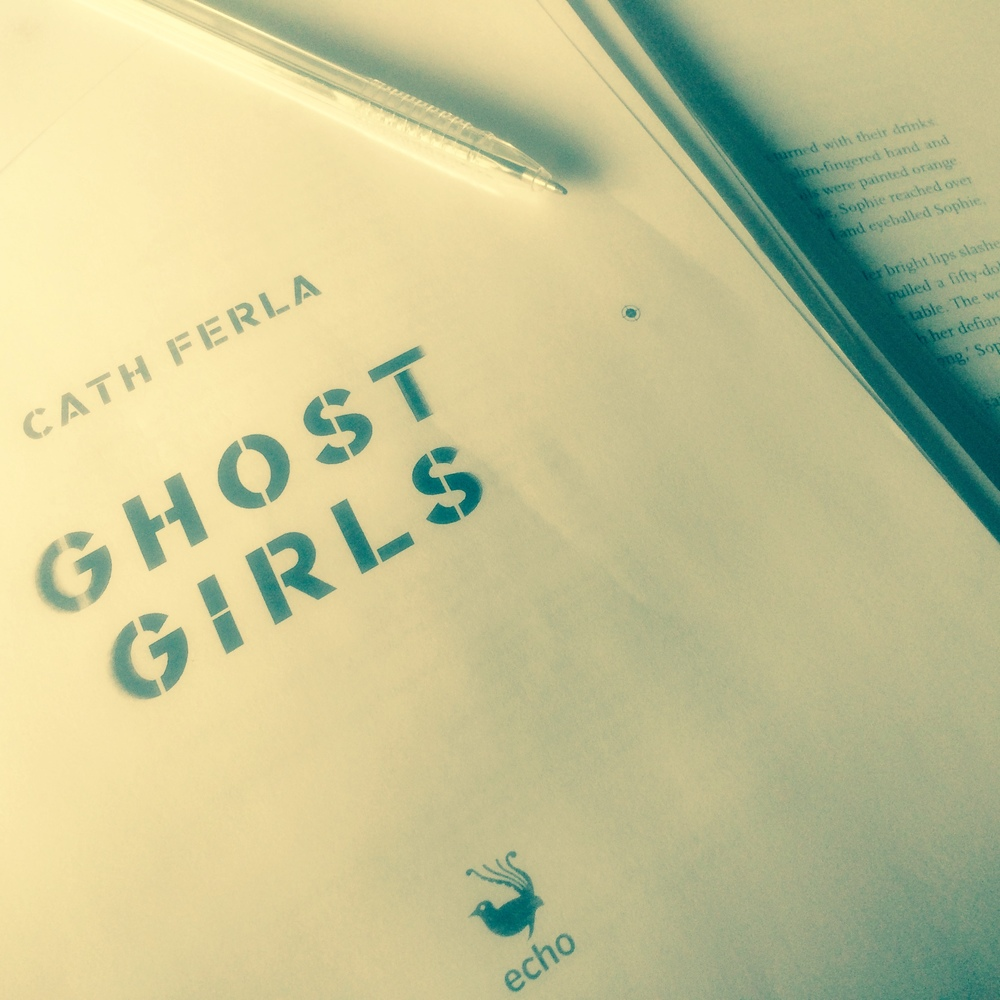 final proofs of the  Ghost Girls  manuscript (November 2015).