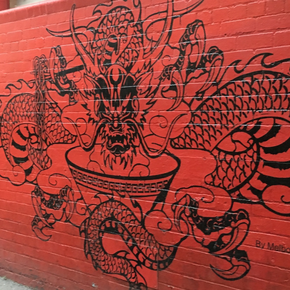wall, Chinatown, Melbourne, Year of the Monkey