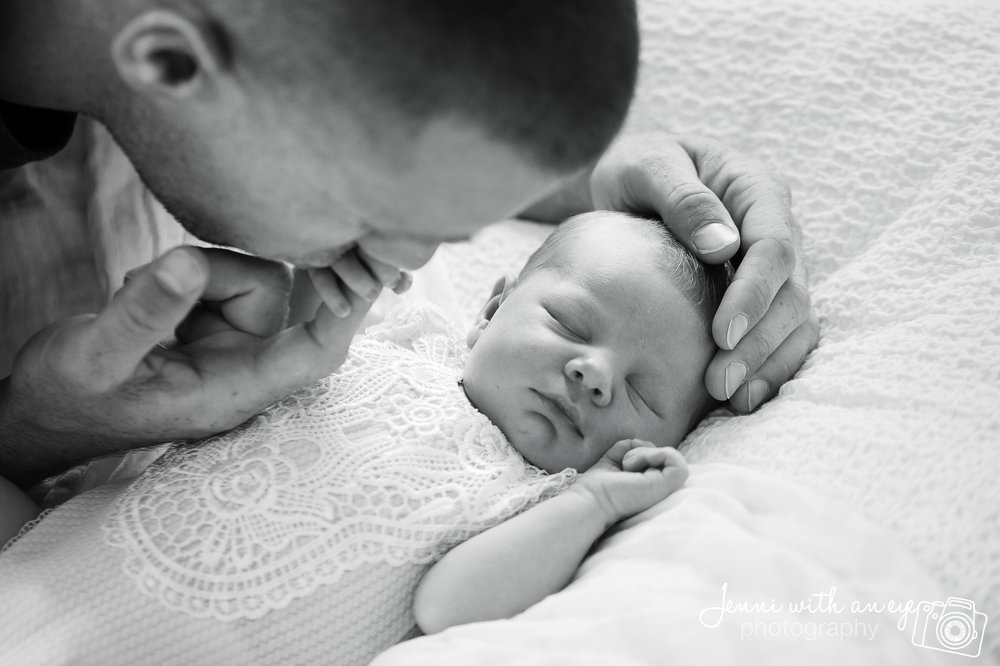 Newborn Session, JENNI WITH AN EYE PHOTO