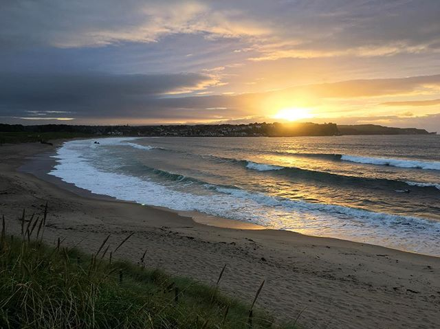 Ballycastle beach last night  #bathlodge #bathlodgers #ballycastlebeach #countyantrim #aonb #northernireland #visitireland #loveireland #seaside #lifesabeach #nofilter