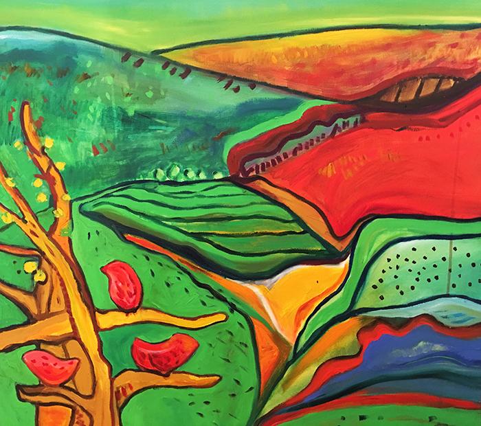 38. African Splendour 2015 (70 x 70 cm)   -   Gui  de Price £350