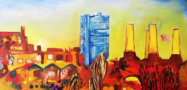 40. Battersea Horizon ,2012 (100 x 50 x 3.8cm)