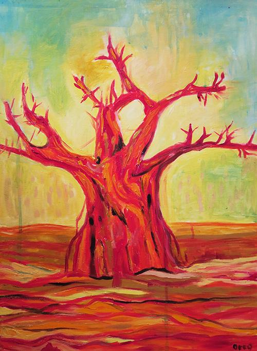 -  SOLD -16. Baobab  2016 (46 x 61 cm)