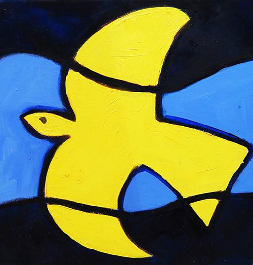 25. Matisse Dove  2008 (30 x 30 x 3.8cm)