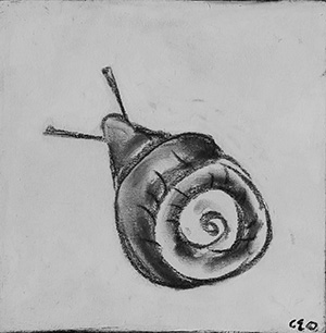 -   SOLD - 33. L'Escargot , 2016 (18 x 18 x 3.8cm)