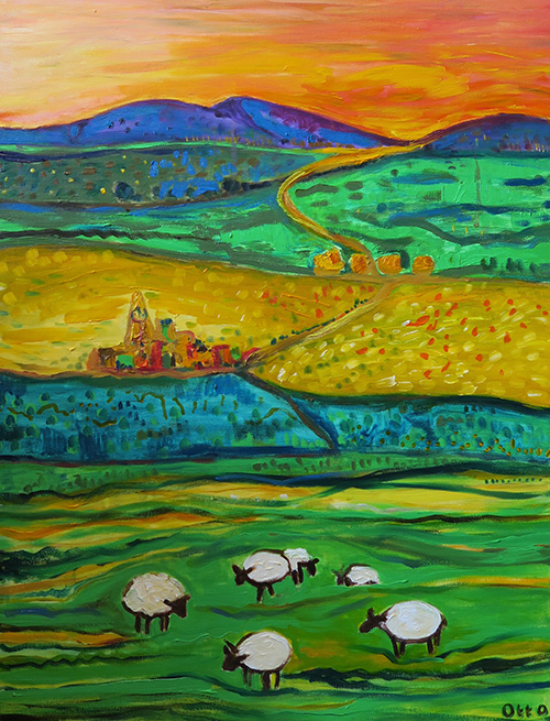 37. Rolling Hills ,2016 (40 x 80 x 3.8cm)