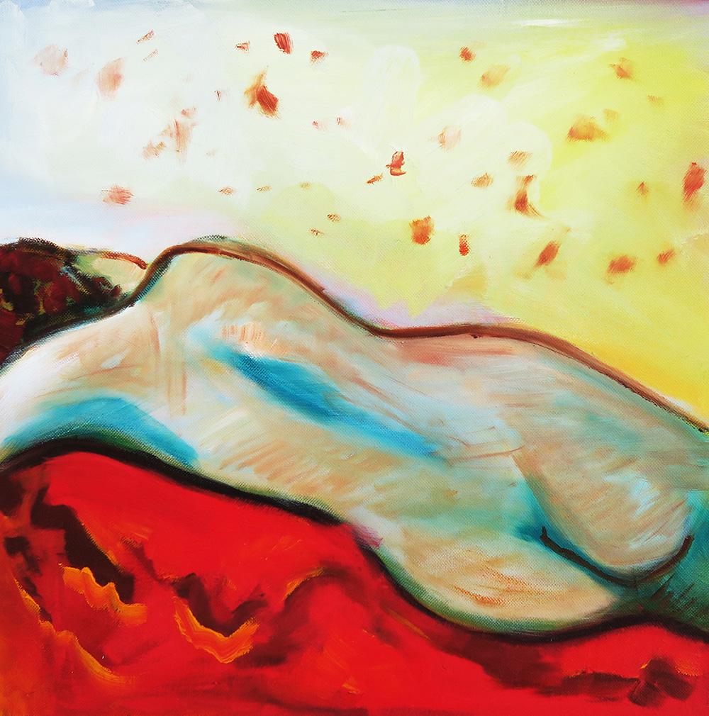 44. Velvet Crush Front ,  2012 (  40 x 40 x 3.8cm)