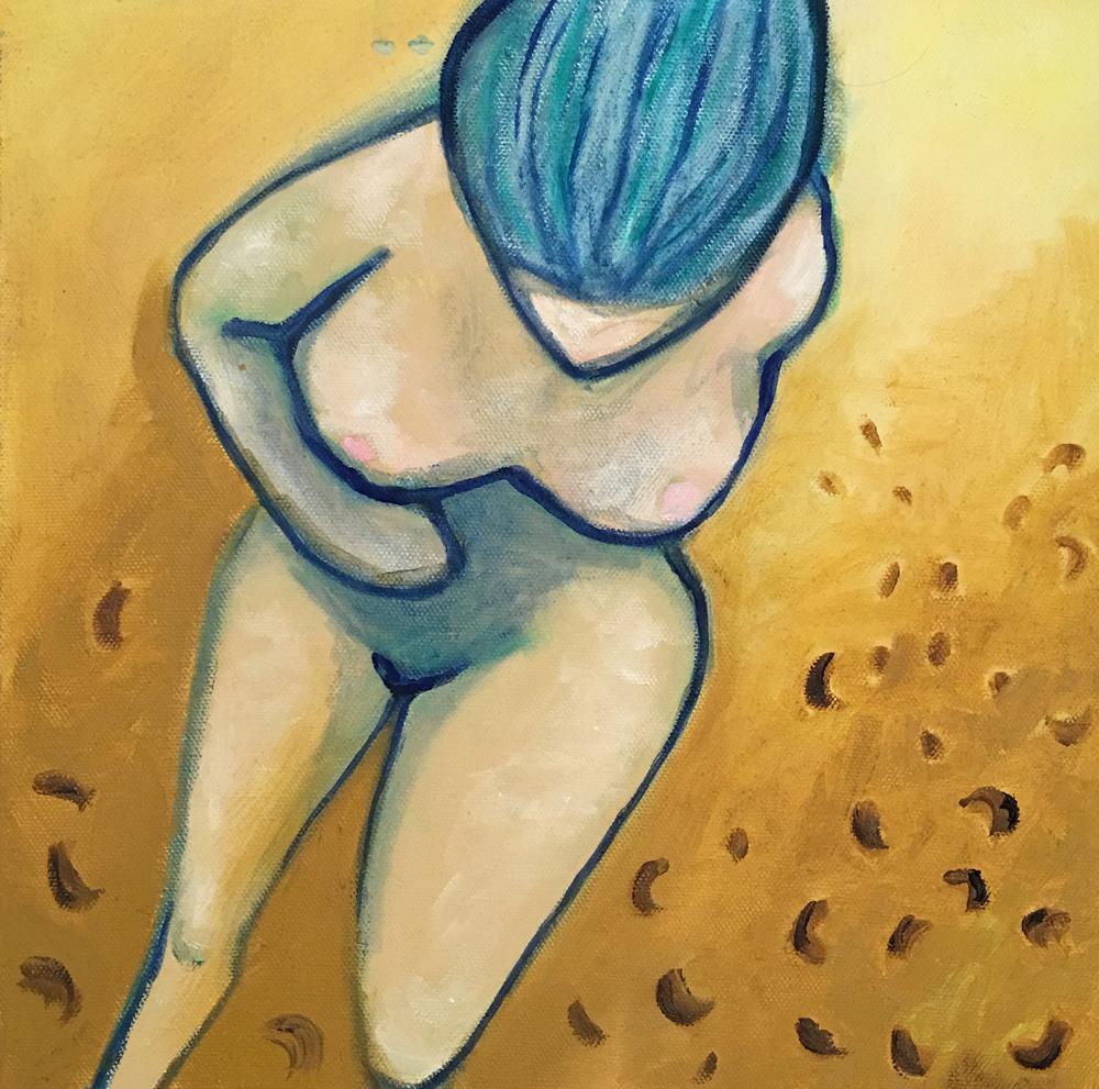 46. Blue Rinse ,2013 (30 x 30 x 3.8cm)