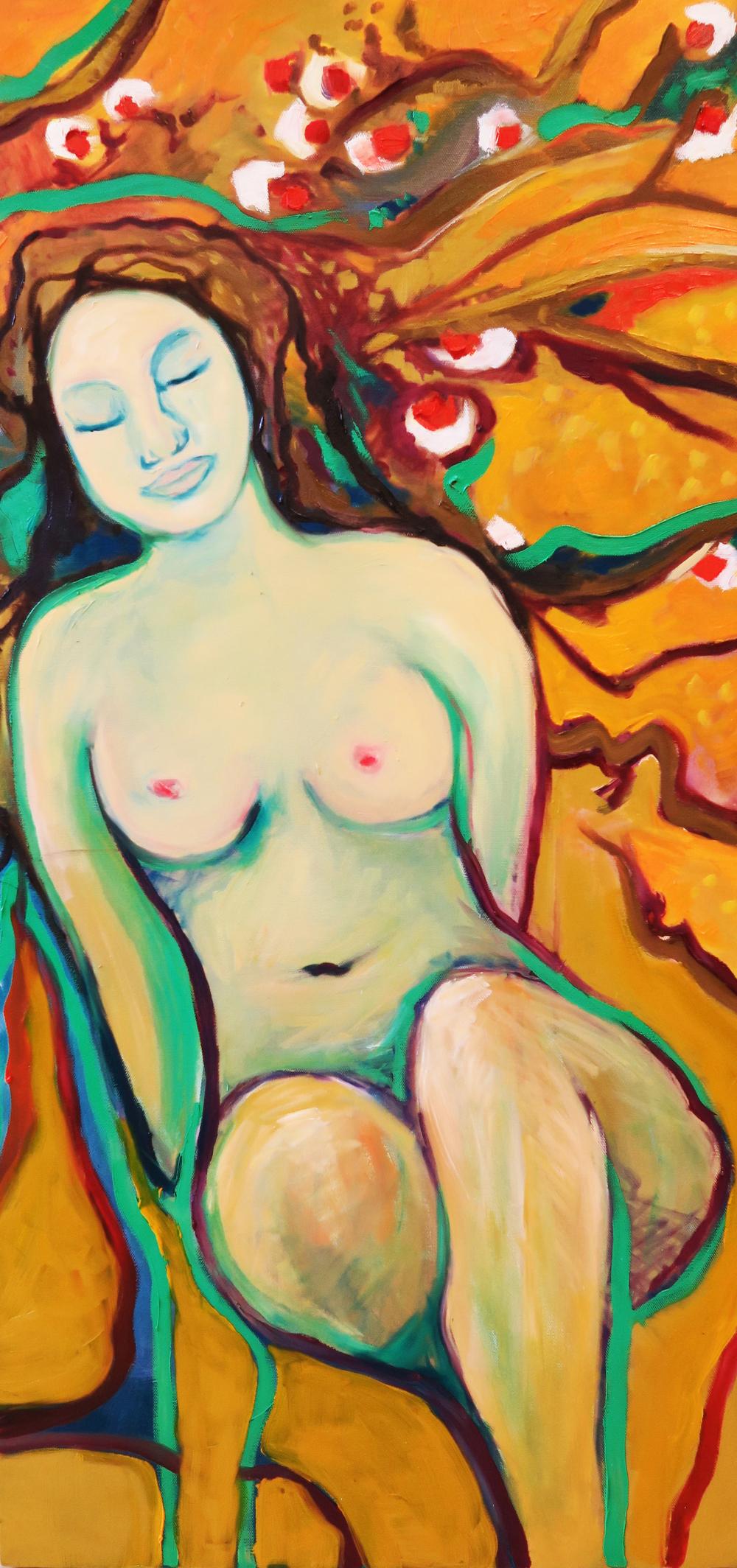 -  SOLD -47. Tangerine ,2015 (50 x 100 x 3.8cm)