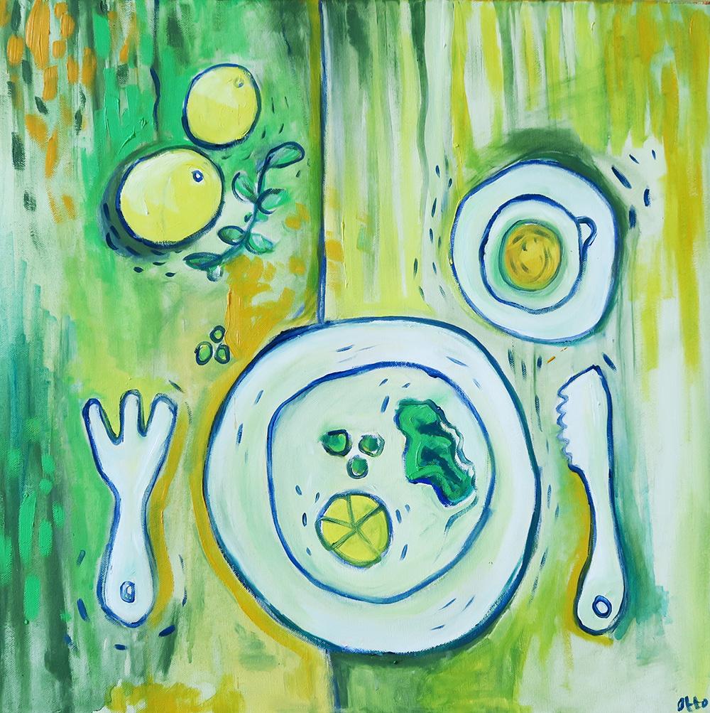 55. Two and Half Lemons ,2016 (50 x 50 x 3.8cm)