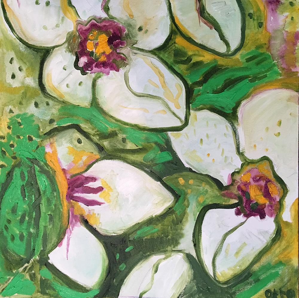 59. Almond Blossoms ,2016 (40 x 40 x 3.8cm)