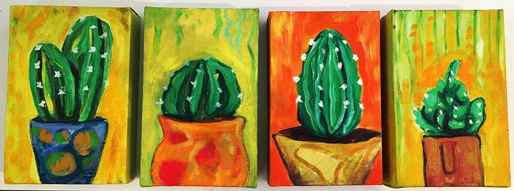 62. Cantabile Cacti ,2016 (8 x 16 x 3.8cm - x 4)