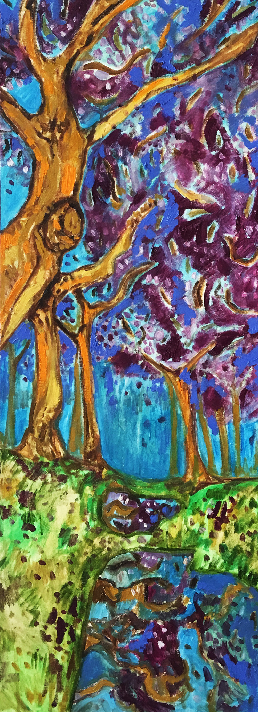 5. Jacarandas in Bloom   2  016 (30 x 80 cm)