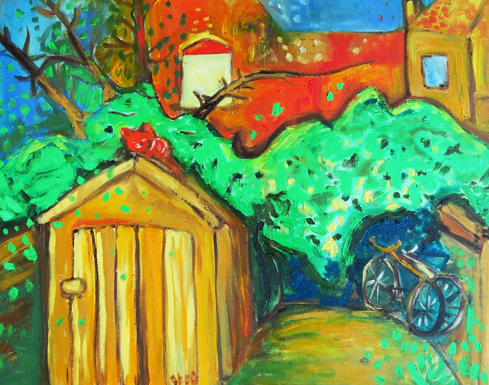 38. The Shed,  2016 (51 x 40 x 3.8cm)