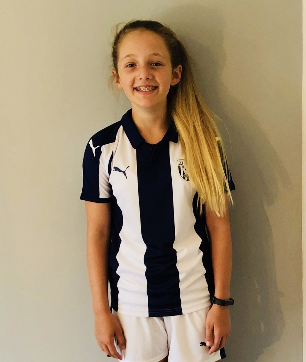 CHIARA STOKES - AGE: 11CLUB: WEST BROMWICH ALBION FCPOSITION: CENTRE MIDFIELDSTARTED IPDA: 2ND FEBRUARY 2016SIGNED FOR ACADEMY: 1ST SEPTEMBER 2018