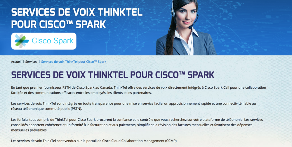 ThinkTel PSTN Cisco Spark