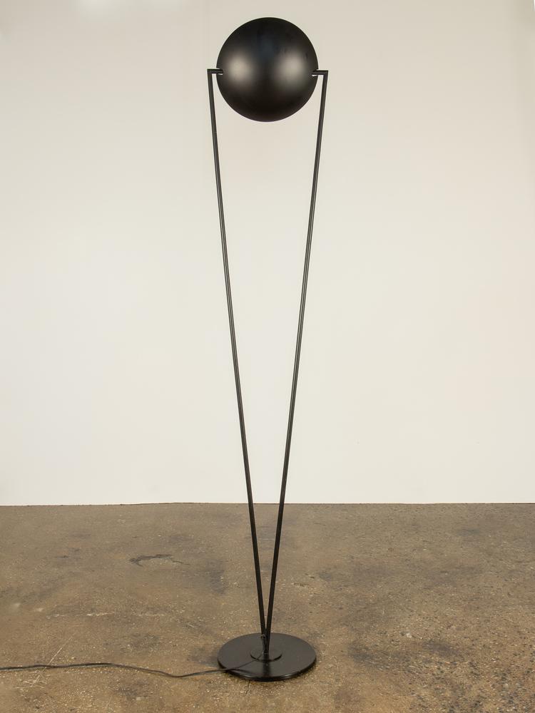 Italian modern black floor lamp oam aloadofball Choice Image