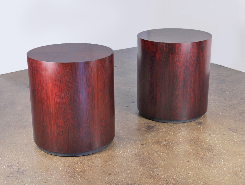 Harvey Probber Rosewood Drum Tables