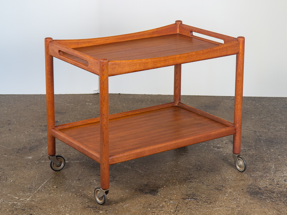 Hans Wegner Teak Bar Cart AT45 by Andreas Tuck