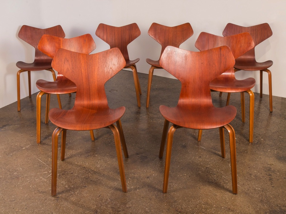 Arne Jacobsen Grand Prix Chairs