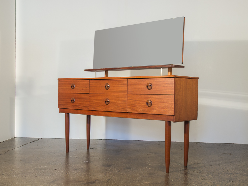 Danish Modern Teak Vanity