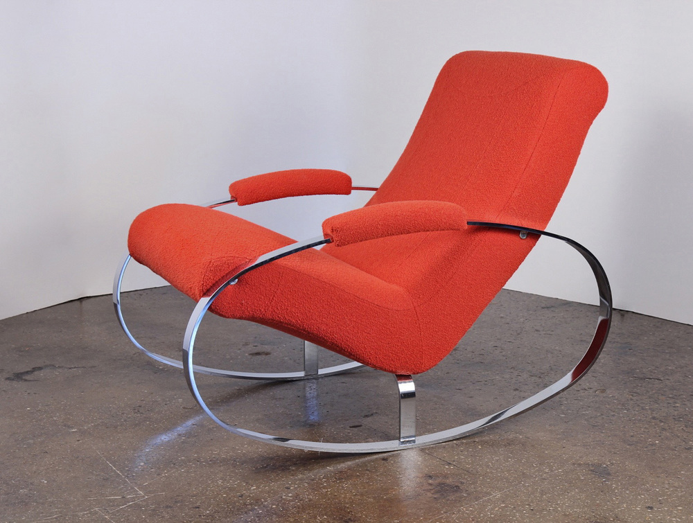 Mid-Century Chrome Rocking Chair