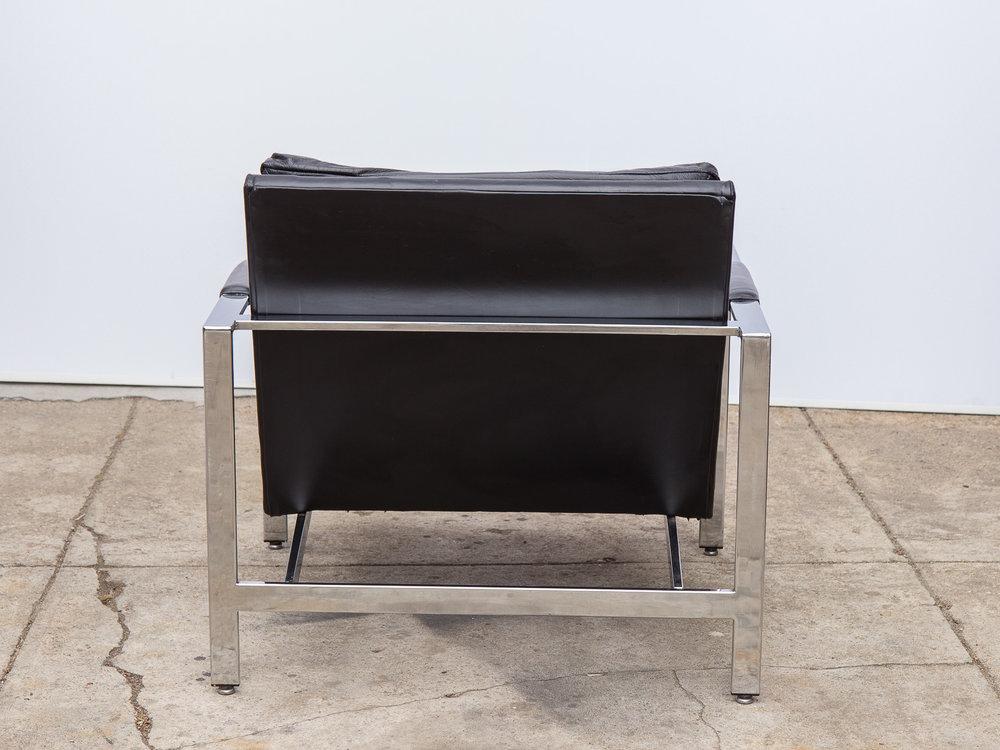Milo Baughman Chrome Leather Chair