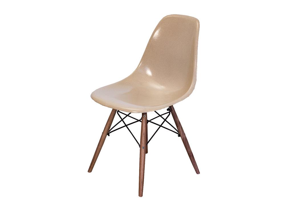 Open_air_modern_eames_greige_fiberglass_shell_chair_on_walnut_dowel_base 1  Copy