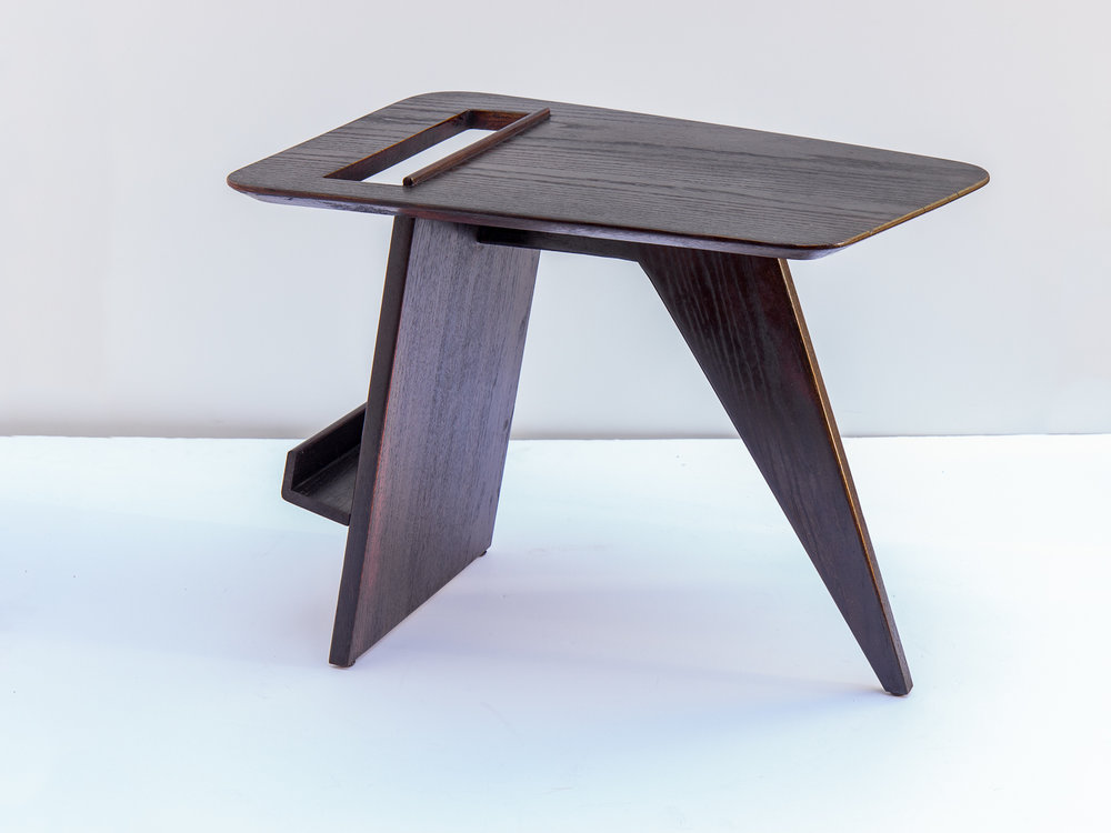 Jens Risom Ebonized Magazine Table