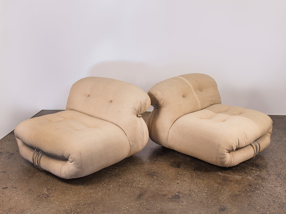 Pair of Soriana Chairs for Cassina