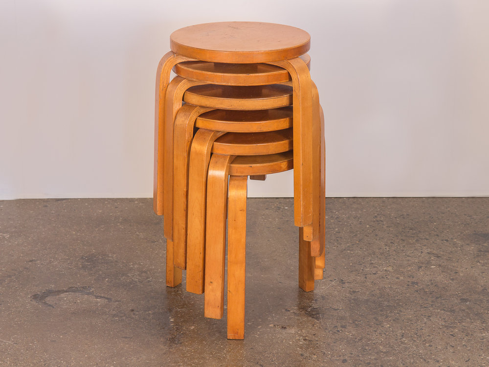 Alvar Aalto Model 60 Stacking Stools for Finsven