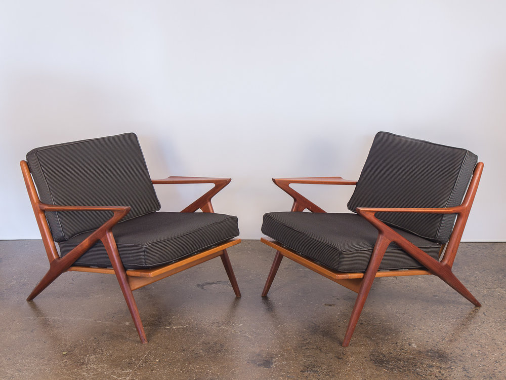 "Pair of Poul Jensen ""Z"" Chairs for Selig"