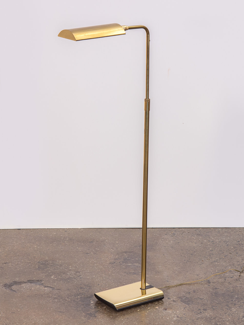 Pair Of Brass Floor Lamps For Koch And Lowy