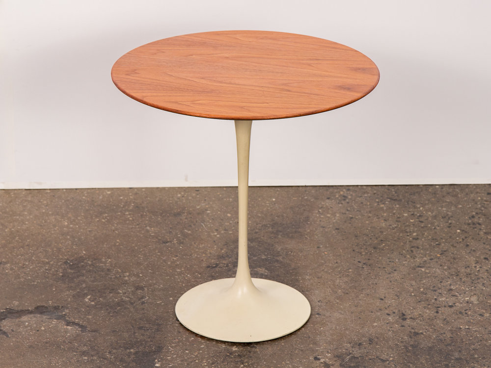 Eero Saarinen Walnut Tulip Side Table