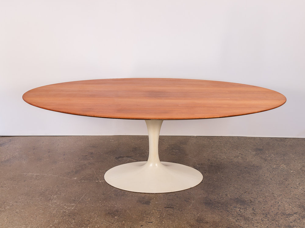 Eero Saarinen Walnut Oval Dining Table