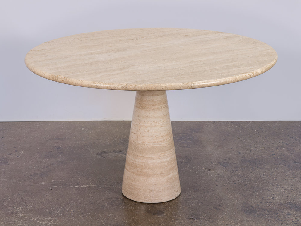 Angelo Mangiarotti Travertine Table