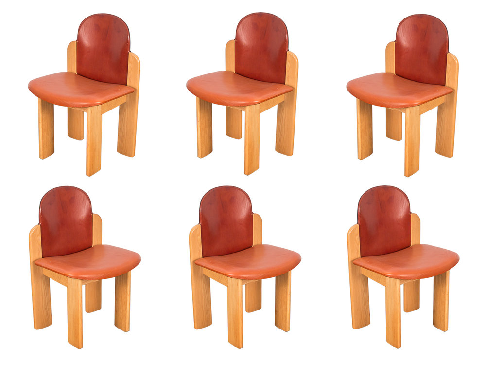 Six Silvio Coppola Dining Chairs