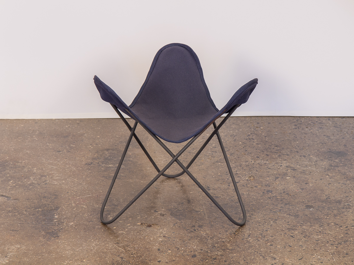 Vintage BKF Hardoy Butterfly Chair Footstool For Knoll OAM