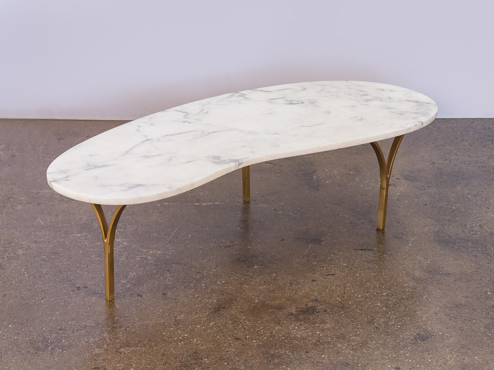 Biomorphic Marble Coffee Table