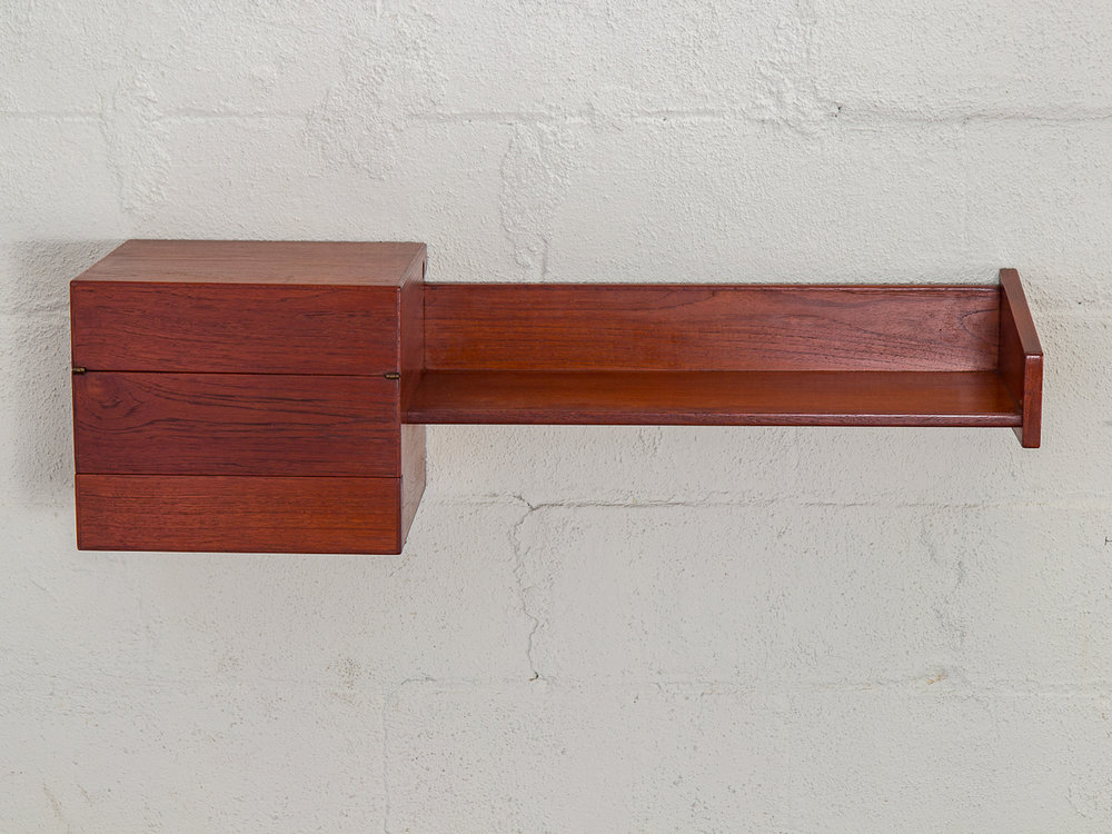 Danish Teak Floating Shelf