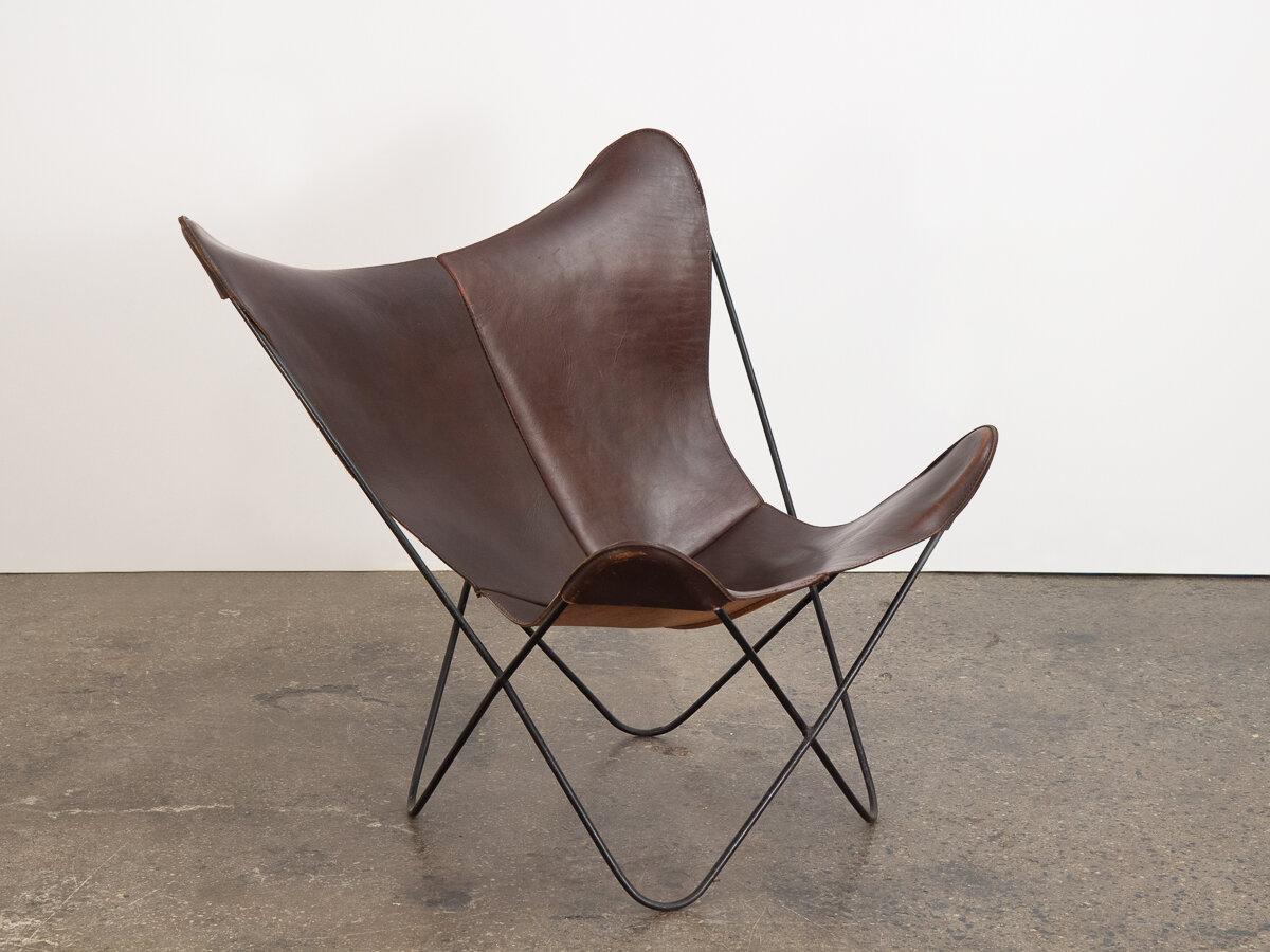 Fabulous Tabacco Leather Hardoy Butterfly Chair Oam Cjindustries Chair Design For Home Cjindustriesco
